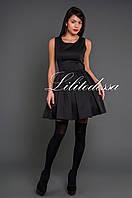 Платье с юбкой-пачкой черный