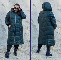 Зимове пальто з плащової тканини, з 42 по 82 розмір, фото 1