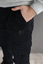 Мужские теплые Карго брюки на флисе Nike на манжете (Реплика), фото 3