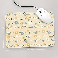 Коврик для мыши 290x210 Цветы №51 (растения, цветы, флора, узоры)