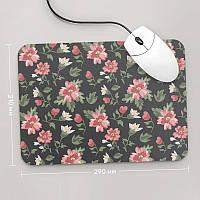 Коврик для мыши 290x210 Цветы №52 (растения, цветы, флора, узоры)