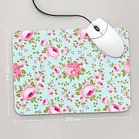 Коврик для мыши 290x210 Цветы №55 (растения, цветы, флора, узоры)