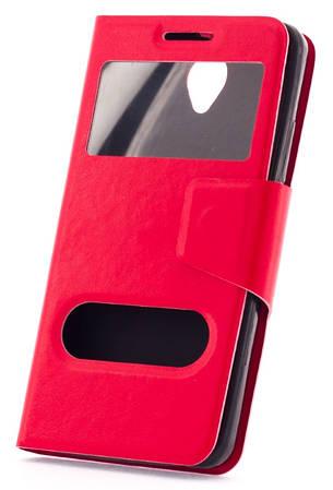 Чехол книжка для Lenovo A5000 Красный, фото 2