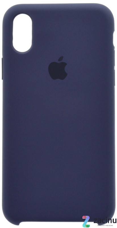 "Чохол-накладка для iPhone X (5.8"") Silicon Case ser. (veri high copi) Синій(Dark Blue)"