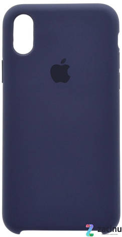 "Чохол-накладка для iPhone X (5.8"") Silicon Case ser. (veri high copi) Синій(Dark Blue), фото 2"