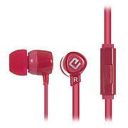 Наушники вакуумные с микрофоном ERGO VM-201 Красный