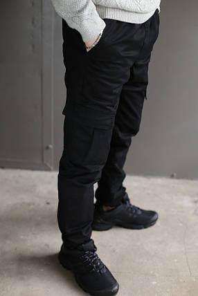 Мужские теплые Карго брюки на флисе Nike на манжете (Реплика), фото 2