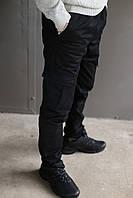 Мужские теплые Карго брюки на флисе Nike на манжете (Реплика)