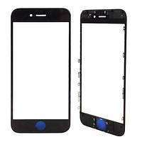 Стекло для переклейки Apple iPhone 5G с OCA пленкой и рамкой, черное (НЕ ЗАЩИТНОЕ)