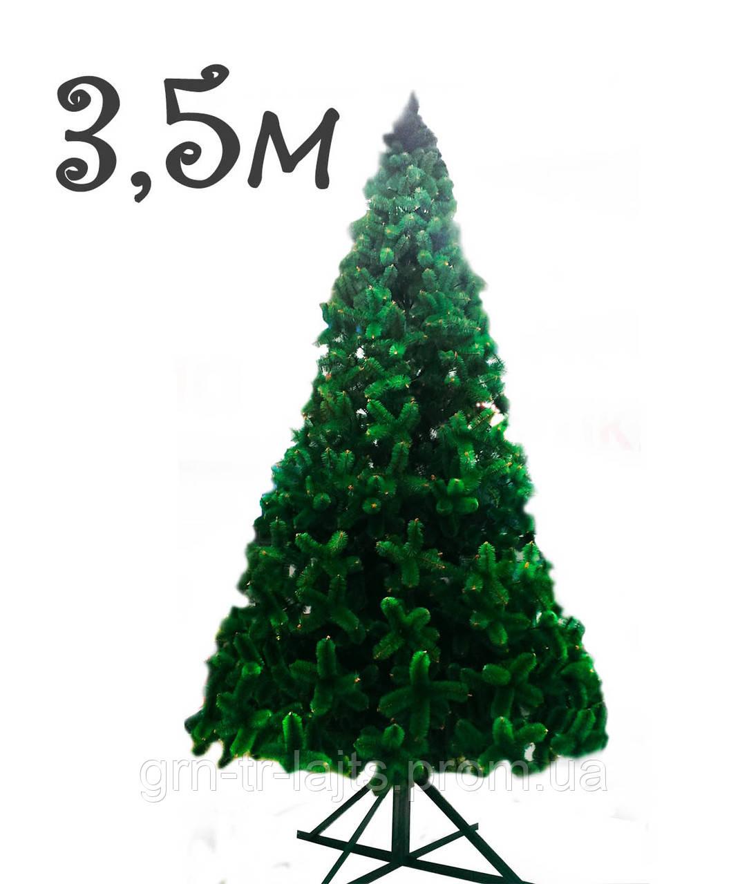 Сосна интерьерная Ялинка України Распушенная зеленая хвоя леска 3,5 м