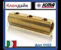 Icma простой распределительный коллектор 3/4*1/2 3 выхода