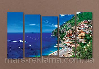 Модульная картина на холсте «Райский курорт»