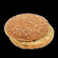 Большая тёмная булочка для гамбургера