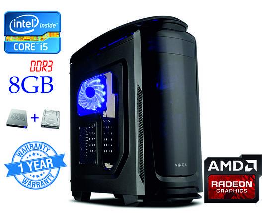 Игровой компьютер Intel Core i5-4570 4-ядра 3.2-3.6GHz/8GB-DDR3/SSD 120GB/HDD 1TB/ Radeon RX580 8GB, фото 2