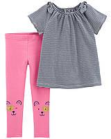 Детский летний костюм - топ и лосины Картерс для девочки