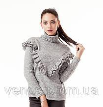 Женский свитер с рюшами. К082
