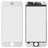 Стекло сенсорное Apple iPhone 6 с рамкой,белое