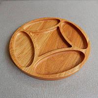 Кухонная доска из дерева. Менажная тарелка. Декоративная посуда. Деревянная тарелка.