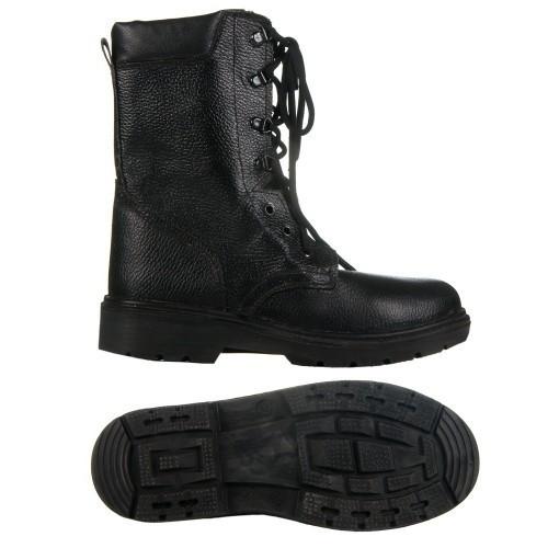 Берцы (ботинки с высокими берцами) юфтевые СМ Зима Мех ПУ литая подошва черные