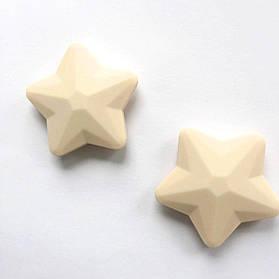 Звезда большая (бежевая) 45мм, силиконовые бусины