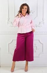 Рубашка пудра Viravi Wear, модель 1018