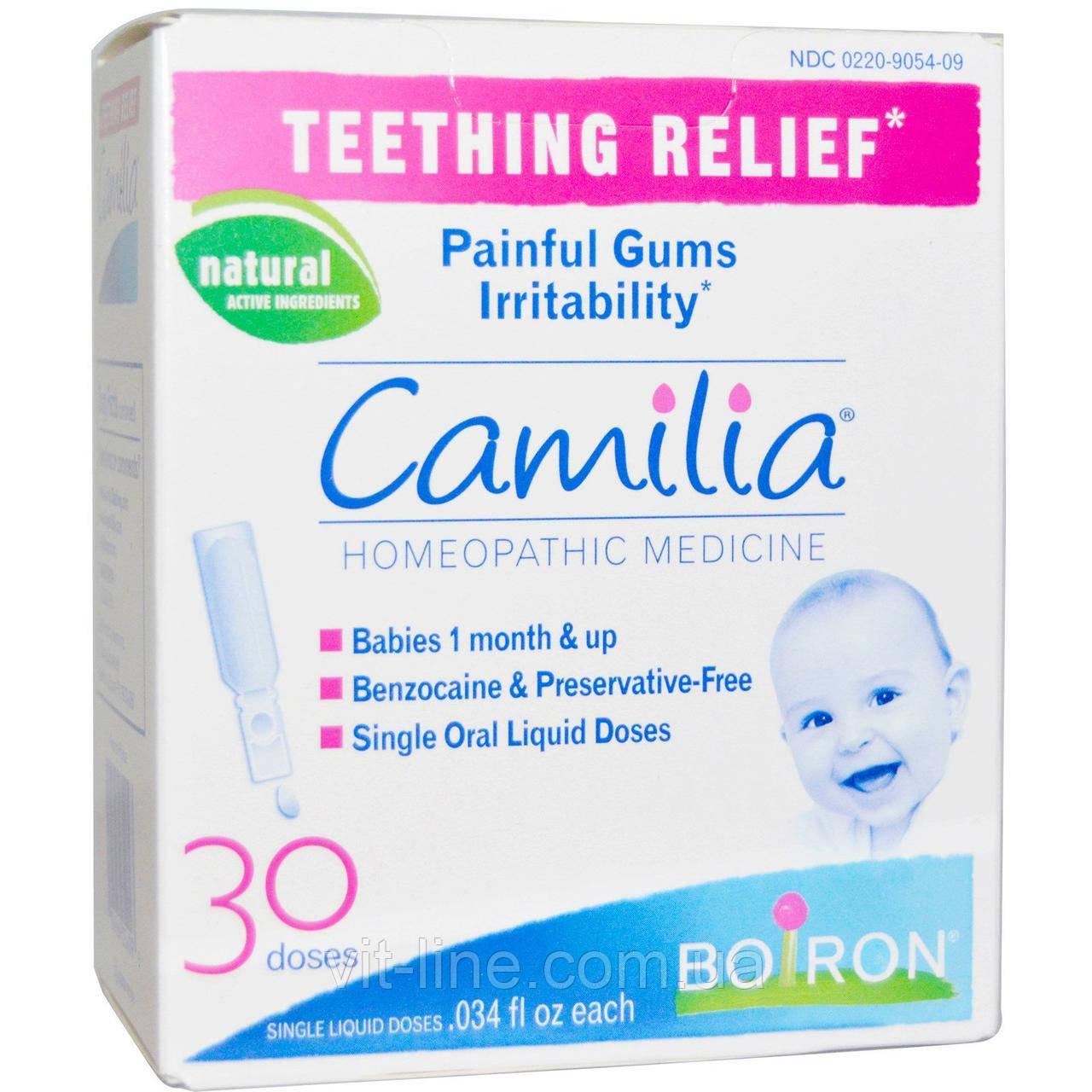 Camilia Камилия Капли для облегчение боли при прорезывании зубов Boiron, 30 жидких доз