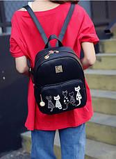 Комплект Рюкзак+Сумка+Клатч+Калтхолдер+Брелок Мишка. Два цвета. Пять котов., фото 2
