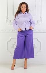 Рубашка сиреневая Viravi Wear, модель 1018