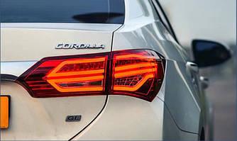 Фонари Toyota Corolla E170 (12-16) тюнинг led оптика стиль 2