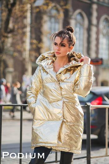 Куртка - блеск, метализированая плащевка, силикон 200. Размер: С,М. Разные цвета. (5133)