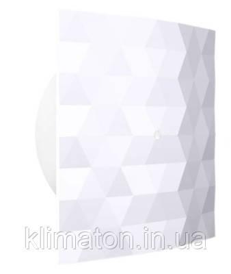 Вентилятор вытяжной Dospel Black&White 100 S White, фото 2