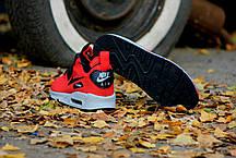 """Зимние кроссовки Nike Air Max 90 Mid """"Red"""" (Красные), фото 3"""