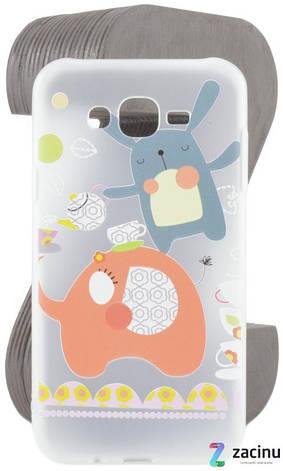 Чохол-накладка TPU для Samsung J700H J7 Fashion ZOO ser. Заєць Прозорий/матовий, фото 2