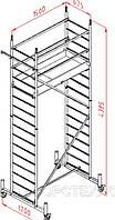 Вышка алюминиевая ALTEC ROLLFIX(с колесами), длина настила 1,50м, ширина настила 0,70м, рабочая высота 5,0м