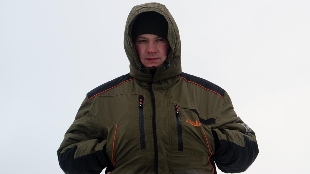 Костюм зимний мембранный  Norfin DISCOVERY (хаки) -35 ° / 6000мм / -XL-L