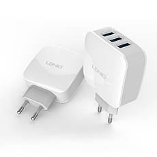 Зарядное устройство LDNIO DL- AC70 + cable micro USB New powerful charging ser. White, фото 2