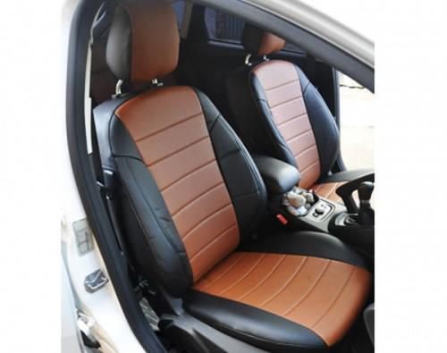 Авточехлы из экокожи Nissan Almera NEW с 2014-н.в. седан (спинка 40 на 60) Автолидер