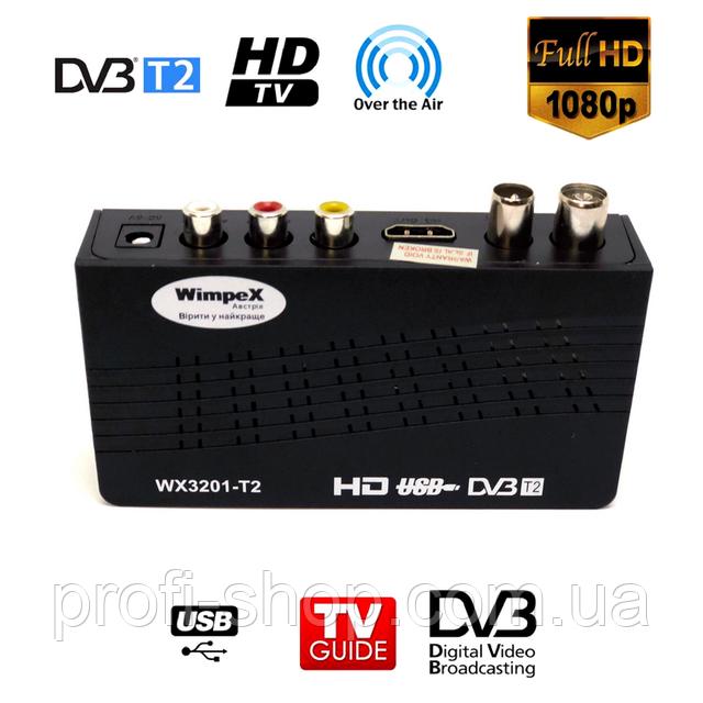 Тюнер Т2 для пенсионеров Wimpex WX3201-T2 | Цифровой эфирный DVB-T2 приемник
