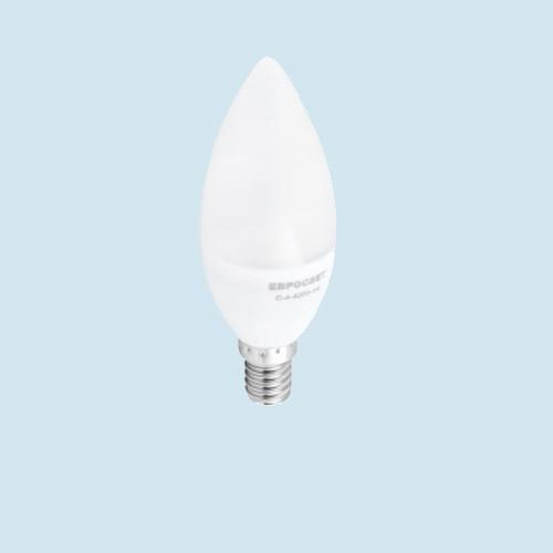 LED лампа свеча С38 E14 4W 4200K Евросвет