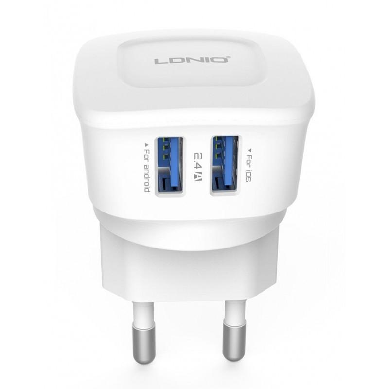Зарядное устройство LDNIO DL- AC63 + cable micro USB New powerful charging ser. White