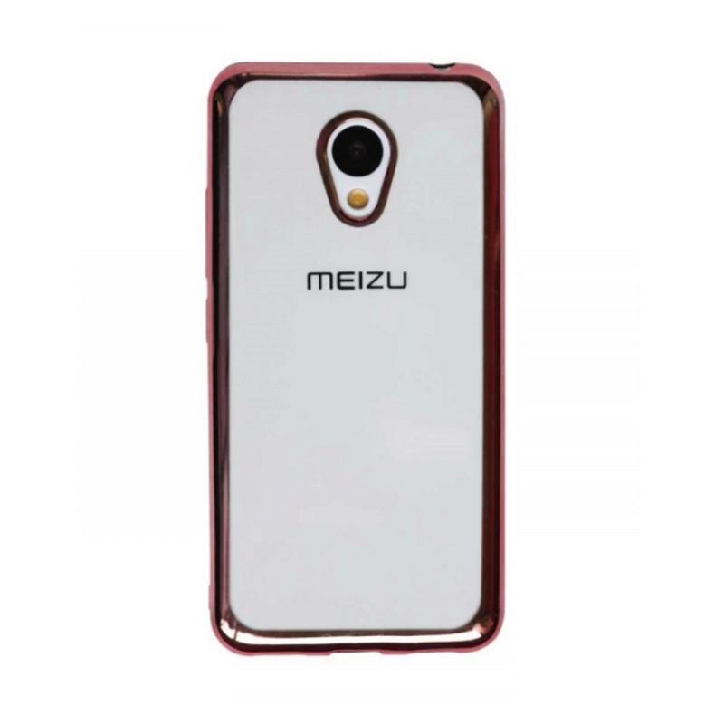 Чохол-накладка для Meizu M3/ M3 mini/ M3s Прозорий/рожевий(308488)