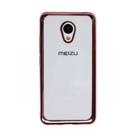 Чохол-накладка для Meizu M3/ M3 mini/ M3s Прозорий/рожевий(308488), фото 2