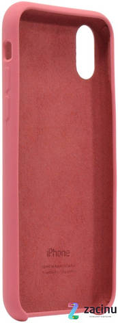 "Чехол накладка для iPhone X (5.8 "") Silicon Case ser. (Veri high copi) Розовый (Wine), фото 2"