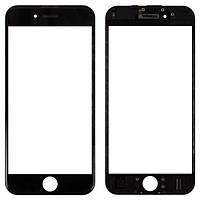 Стекло для переклейки Apple iPhone 6S с OCA пленкой и рамкой, черное (НЕ ЗАЩИТНОЕ)