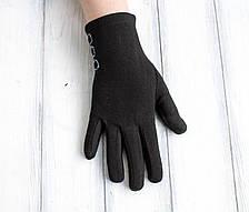 Женские стрейчевые перчатки Черные Большие, фото 2