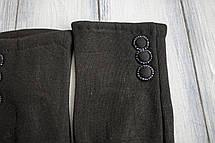 Женские стрейчевые перчатки Черные Большие, фото 3