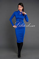 Платье миди синий, фото 1