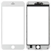 Стекло для переклейки Apple iPhone 6 Plus с OCA пленкой и рамкой, белое (НЕ ЗАЩИТНОЕ)