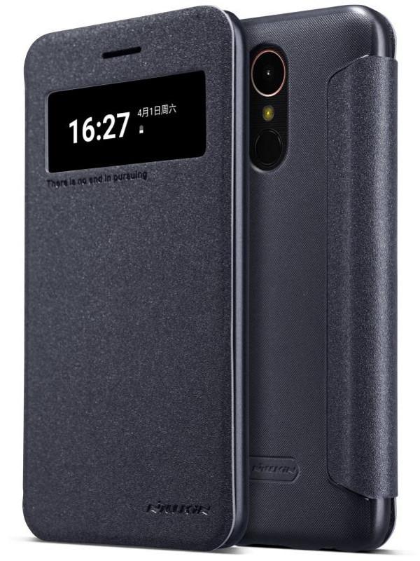 Чохол-книжка Nillkin для LG K10 (2017) X400 Sparkle ser. Чорний