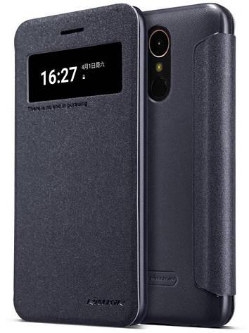 Чохол-книжка Nillkin для LG K10 (2017) X400 Sparkle ser. Чорний, фото 2